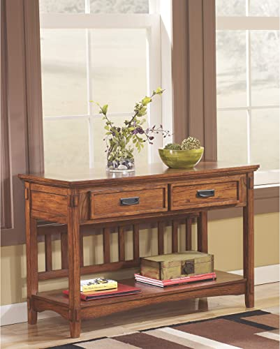 Signature Design by Ashley Cross Island Console Sofa Table Medium Brown