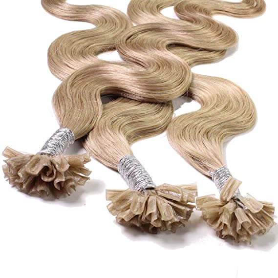 Just Beautiful Hair 50 x 0,8g Extensiones de Queratina - 40cm - Corrugado, Colore #18 Castaños Rubio: Amazon.es: Belleza