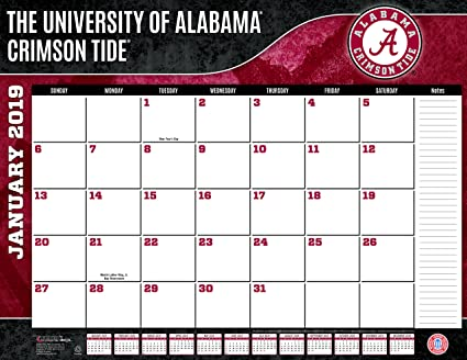 University Of Alabama 2019 Calendar Amazon.: Turner 1 Sport Alabama Crimson Tide 2019 22X17 Desk