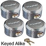 Master Lock - Hidden Shackle Locks Keyed Alike 6271KA-4