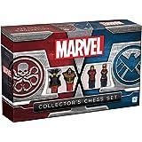 Marvel Collector's Chess Set | Custom Sculpted Chess Pieces Marvel Superheros & Villains | Iron Man & Thanos as King | Captai