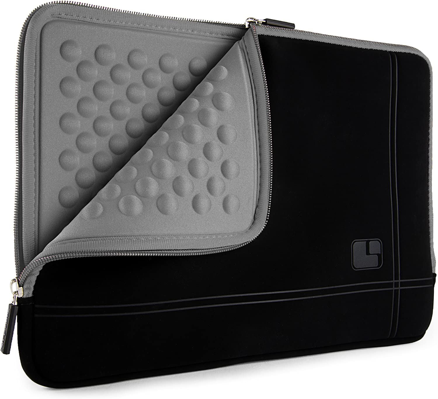 SumacLife Bubble Padded Laptop Sleeve for VAIO S11, VAIO S13, VAIO SX14, Laptops up to 12.75 inches (Black Gray)