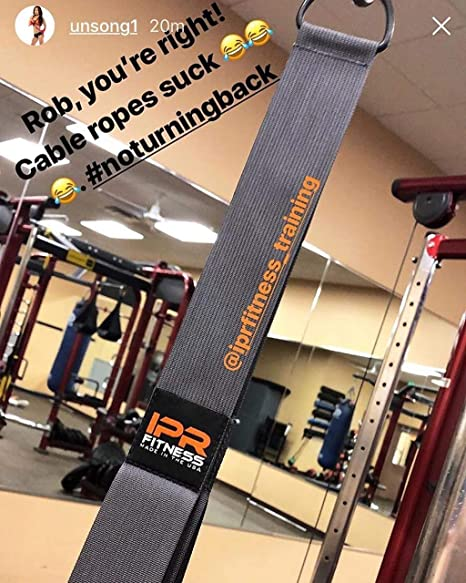 """IPR Fitness Iso Handle XXXL /""""Patent Pending/"""" Tricep Rope Press Down /& LAT Pulldown Cable Attachment for Gym I 100/% Made in The USA"""