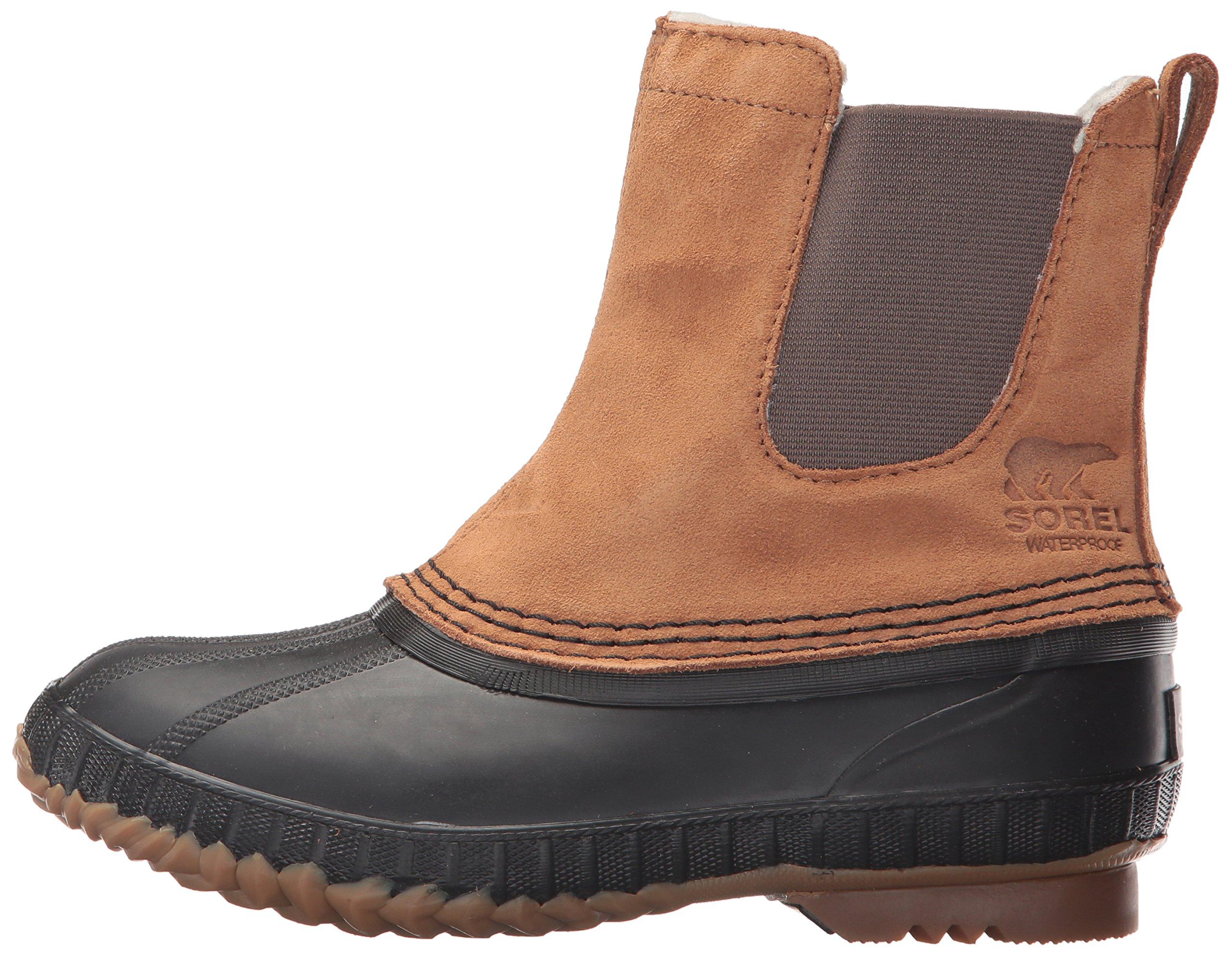 SOREL Boys' Youth Cheyanne II Chelsea Snow Boot, elk, Black, 4 M US Big Kid by SOREL (Image #5)