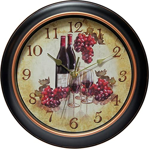 Infinity Instruments Pinot 11-3 4 inch Silent Sweep Wall Clock