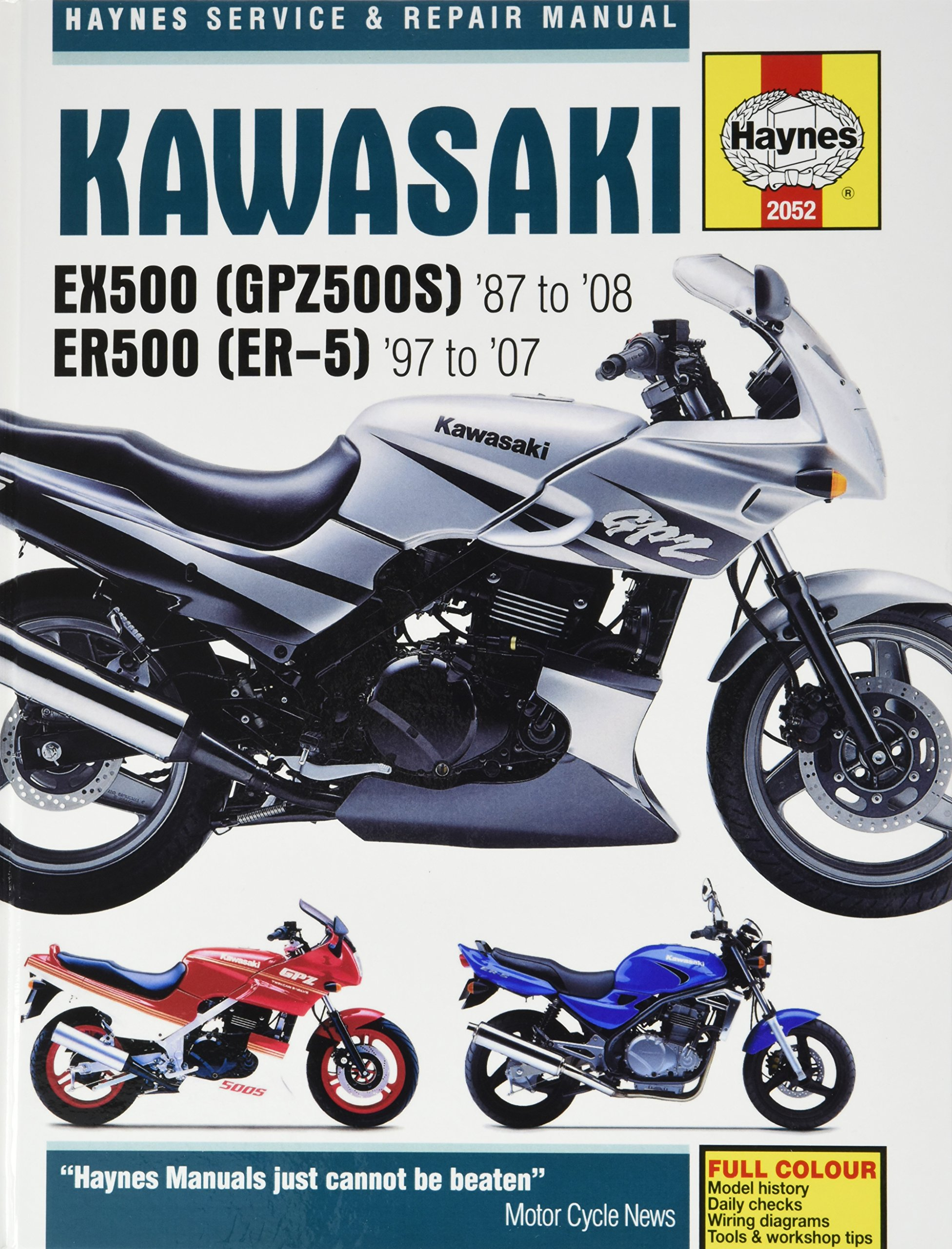 Kawasaki EX500 (GPZ500S) and ER500 (ER-5) Service and Repair Manual: EX500  1987 to 2008, ER500 1997 to 2007 (Haynes Service and Repair Manuals): ...