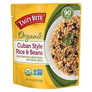 Tasty Bite Cuban Style Rice and Beans, Microwaveable Ready to Eat Entrée, 8 Ounce (Pack of 6)