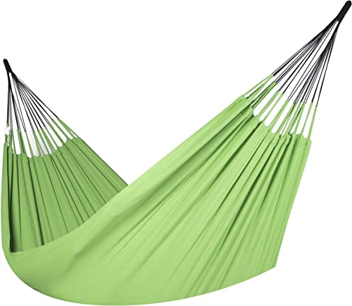 Colombian Hammock – Single 55 inches Wide – Natural Cotton Cloth Lime