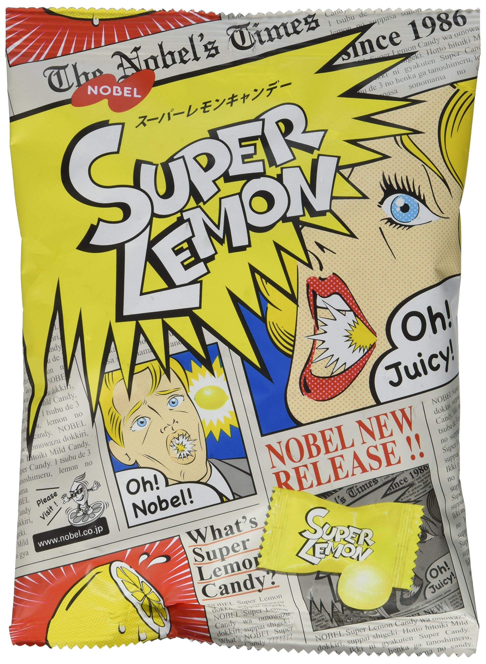 Japanese Extreme Super Sour Lemon Flavored 3 Layered Intense Candy Challenge by Nobel®