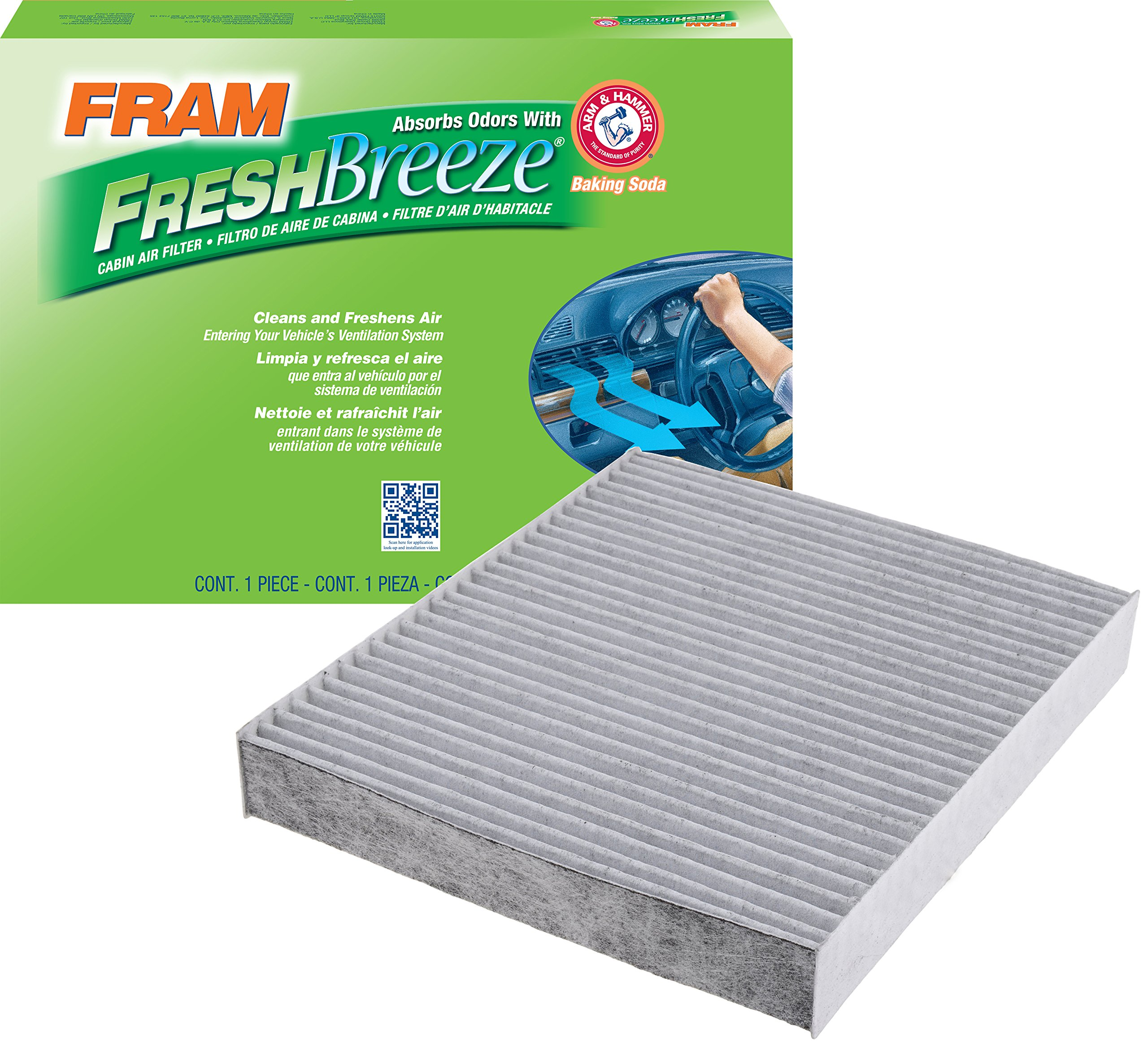 FRAM CF10743 Fresh Breeze Cabin Air Filter with Arm & Hammer by Fram
