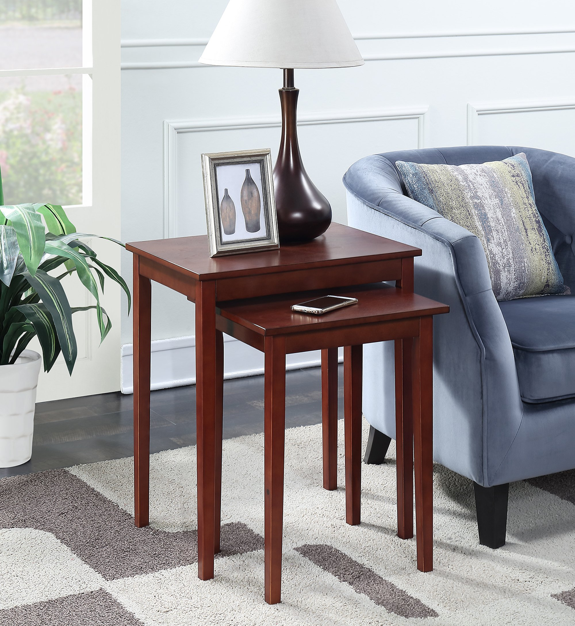 Convenience Concepts American Heritage Nesting End Tables, Mahogany by Convenience Concepts