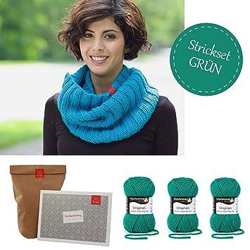 Stricken Für Anfänger Set Schal Diy Strickset Schal