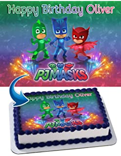PJ Mask Edible Cake Image Personalized Toppers Icing Sugar Paper A4 Sheet Edible Frosting Photo Cake