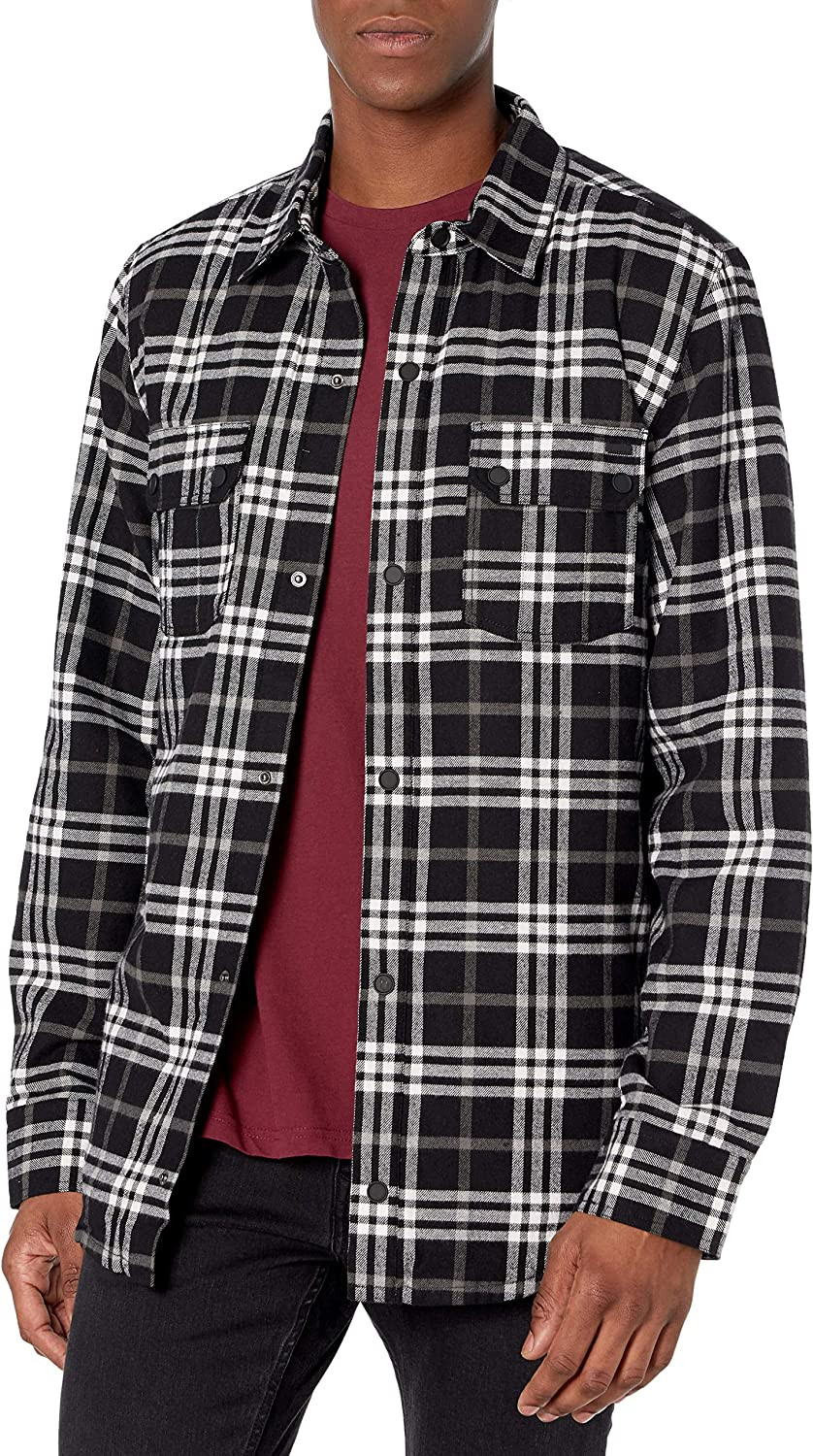 Volcom mens Sherpa Snow Flannel Jacket: Clothing