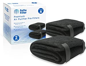 Fette Filter - Air Purifier Pre-Filters Compatible with Honeywell HRF-AP1, Filter A (Makes up to 8 Filters). Universal Carbon Pre Filters. Pack of 2