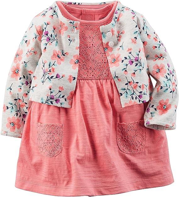 Carters bebé niña lunares Cardigan Dress Set