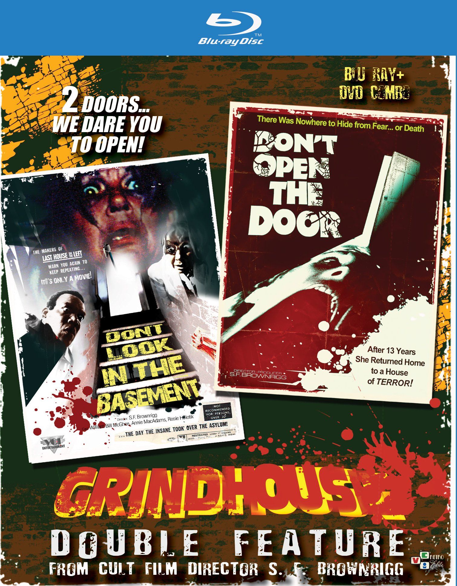 Blu-ray : Grindhouse: Double Feature: Don't Look In The Basement / Don't Open The Door (With DVD, 2PC)