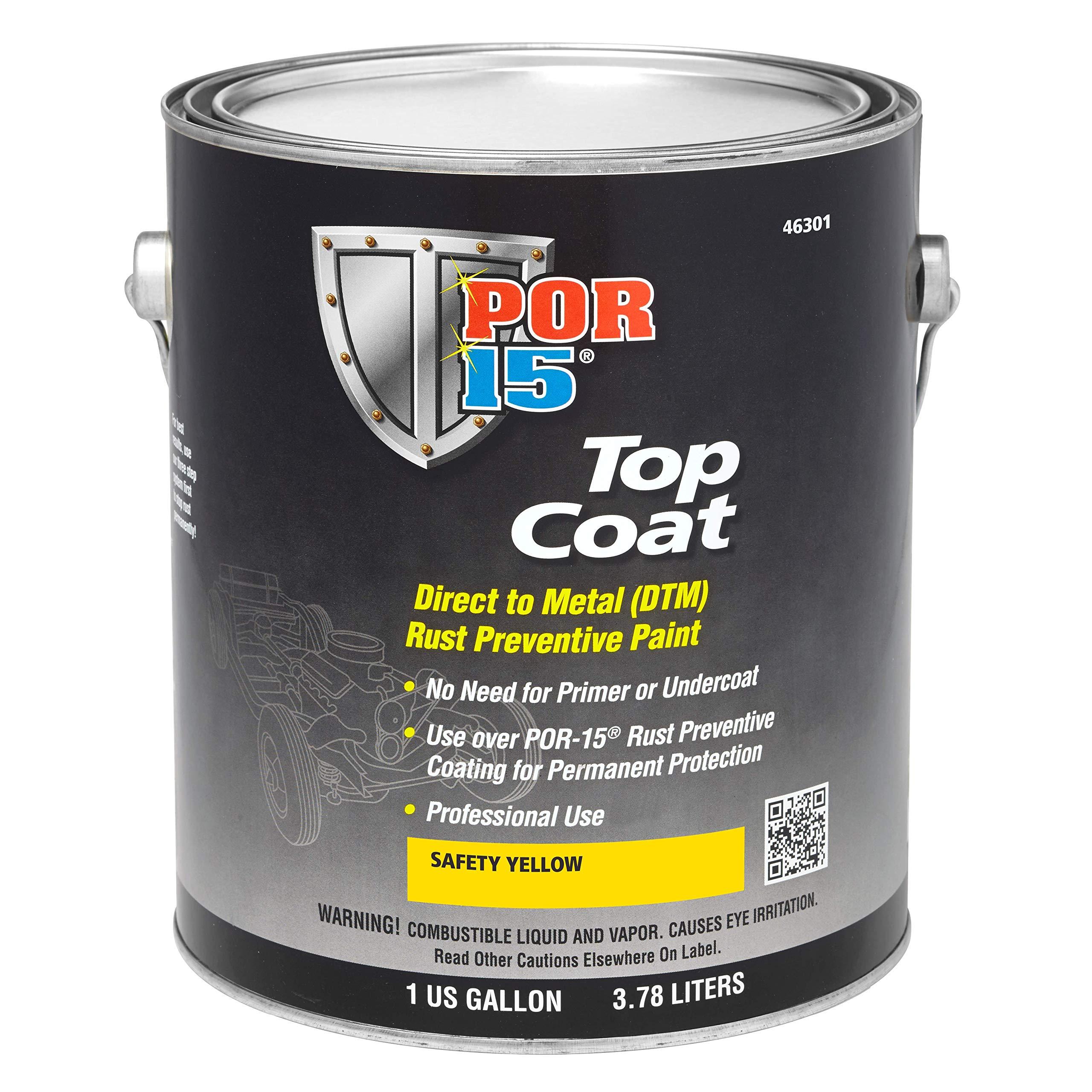 POR-15 46301 Top Coat Safety Yellow Paint 128. Fluid_Ounces
