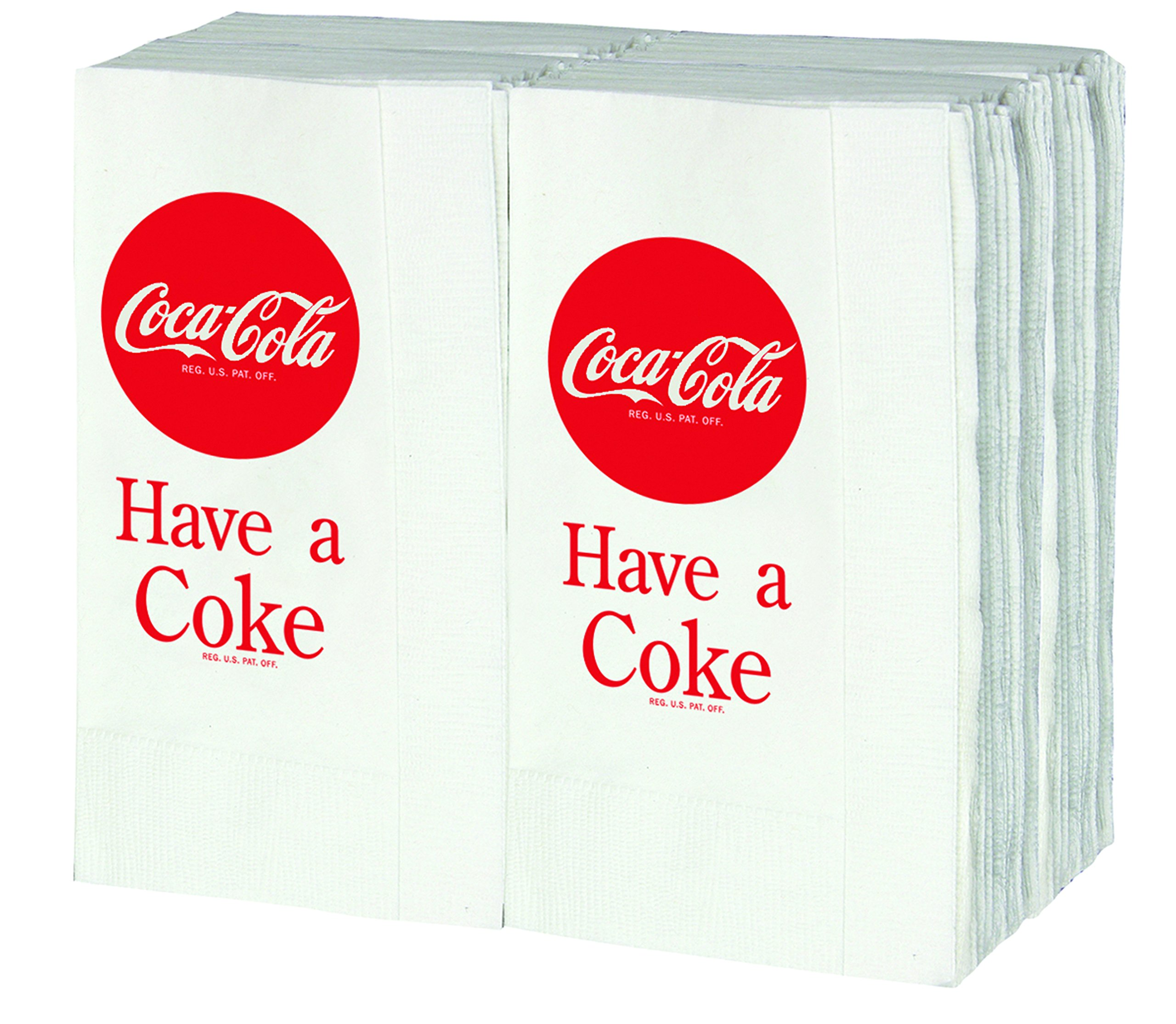 Tablecraft CC380 Coca-Cola Logo Printed Napkins, Full, Red