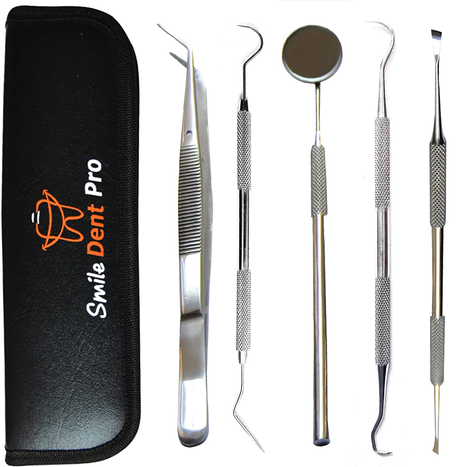 Dentist Tools Kit | Dental Tools Dental Pick Dental Floss Gum Floss Threaders Toothpicks dental Hygiene Kit Set Dental Instruments High Grade Stainless Steel Tartar Scraper Tartar Remover