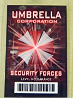 HALLOWEEN COSTUME MOVIE PROP - ID Security Badge Umbrella Corporation (Resident Evil) Security Forces