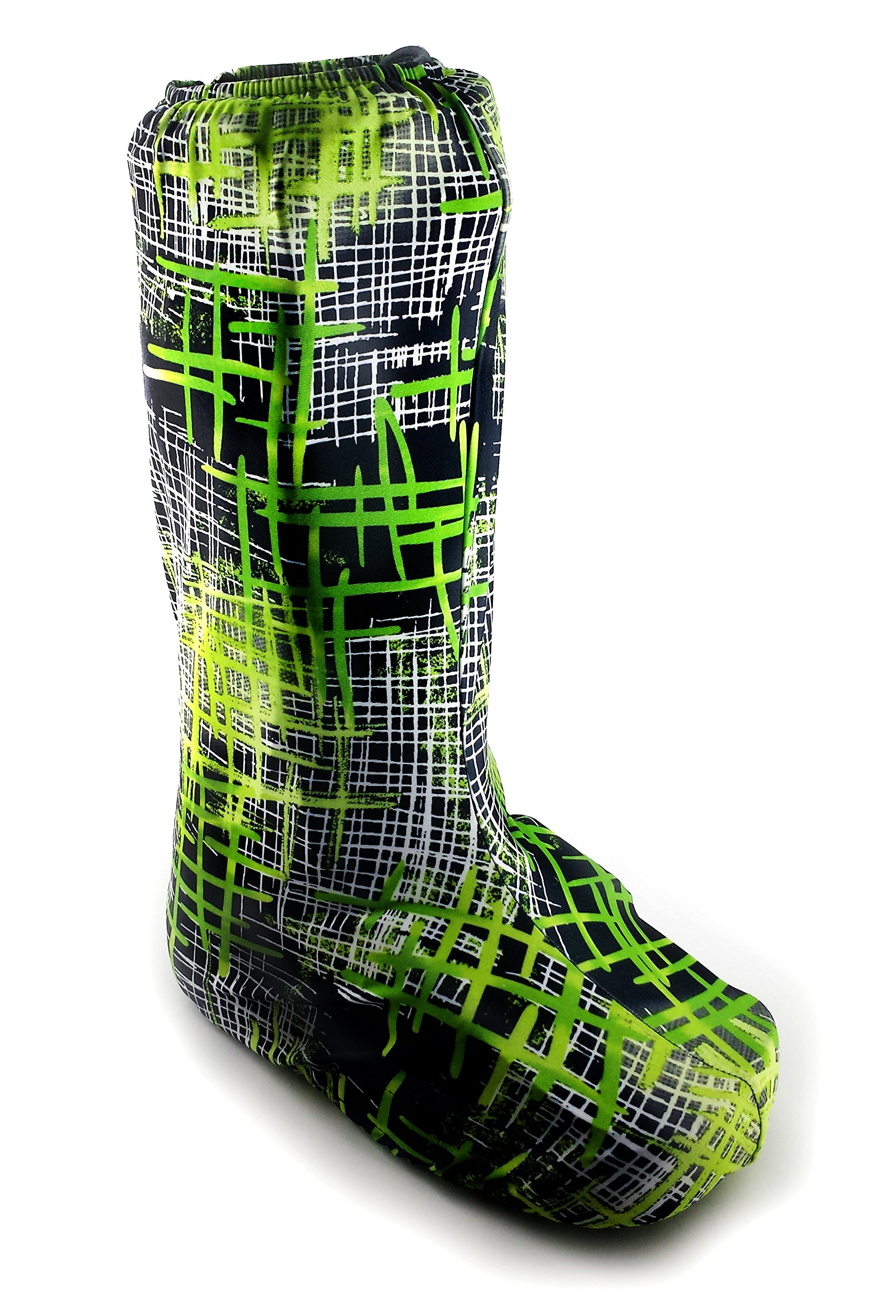My Recovers Walking Boot Cover for Fracture Boot, Fashion Cover in Green Plaid, Tall Boot, Made in USA, Orthopedic Products Accessories (Medium) by My Recovers