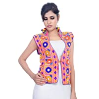 Banjara Women's Poly Cotton Kutchi Waist Jacket