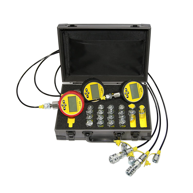 XZT 70P Digital Hydraulic Pressure Test,Pressure gauges Set, Mini Hydraulic Hose Set, Test Coupling Set,Hydraulic Repair Tools for Excavator Construction Machinery,Hydraulic Systems