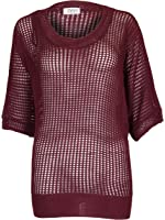 Love My Fashions Women's Mesh Knitted Batwing Jumper Top