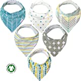 Amazon Price History for:Baby Bandana Drool Bibs - 6 Pack Gift Set for Boys & Girls, Organic Cotton Fronts, Hypoallergenic, Cute, Soft, Extra Absorbent & Unisex
