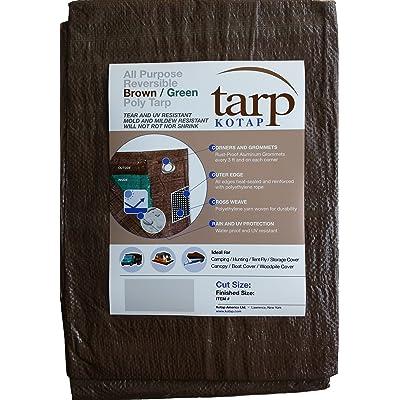 Kotap 8-ft x 10-ft Reversible Brown/Green Poly Tarp, Item: TBG-0810