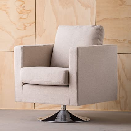 Exceptionnel Amazon.com: GDFStudio 300583 Hahn | Modern Fabric Swivel Armchair | In  Cream,: Kitchen U0026 Dining