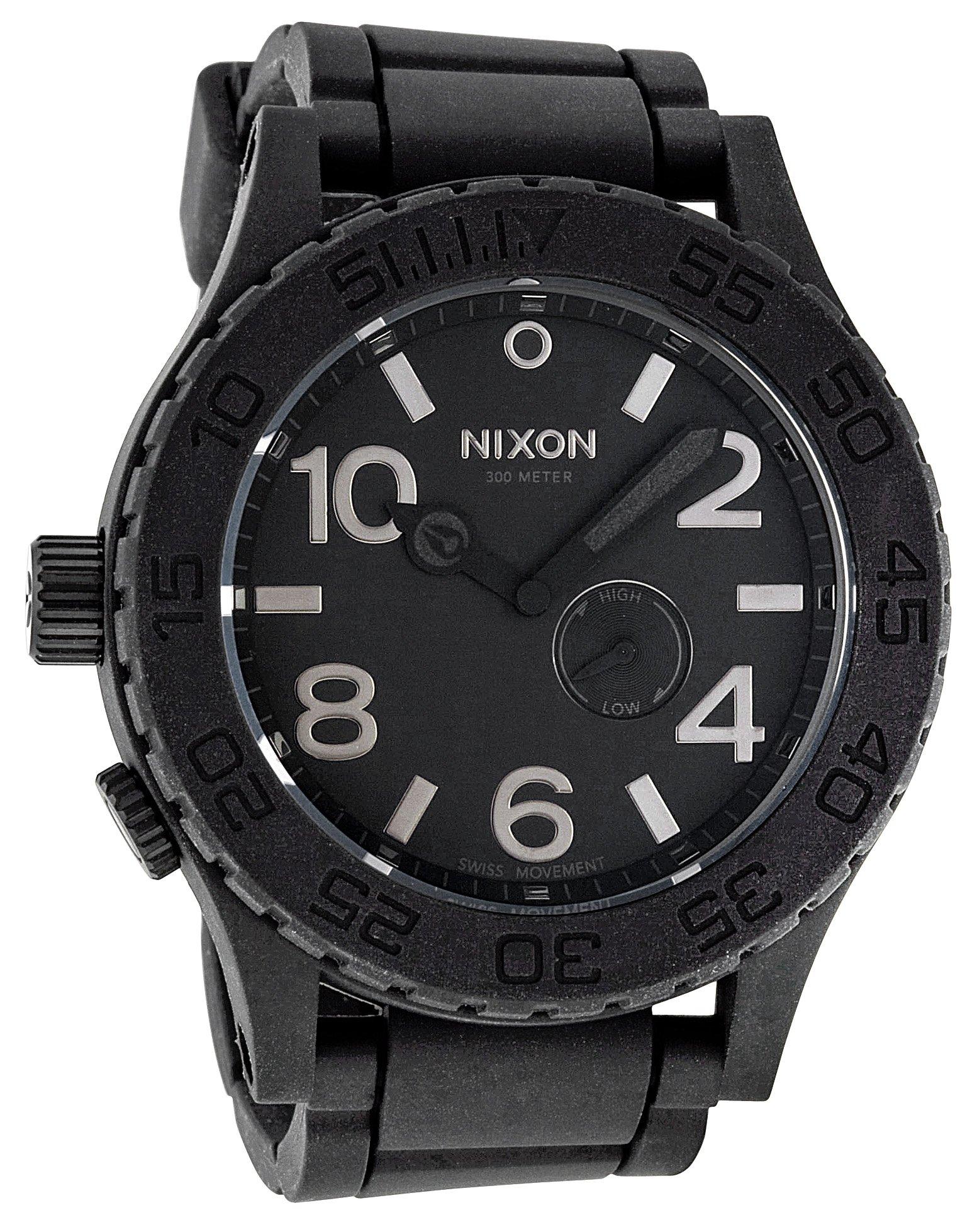 Nixon Men's NXA236000 Simplify Black Tide Rubber Watch