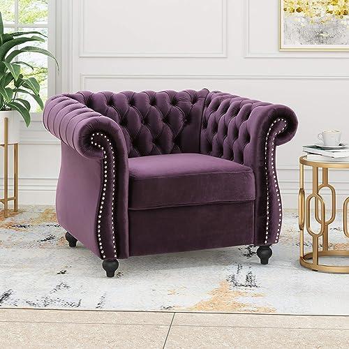 Leila Chesterfield Velvet Club Chair