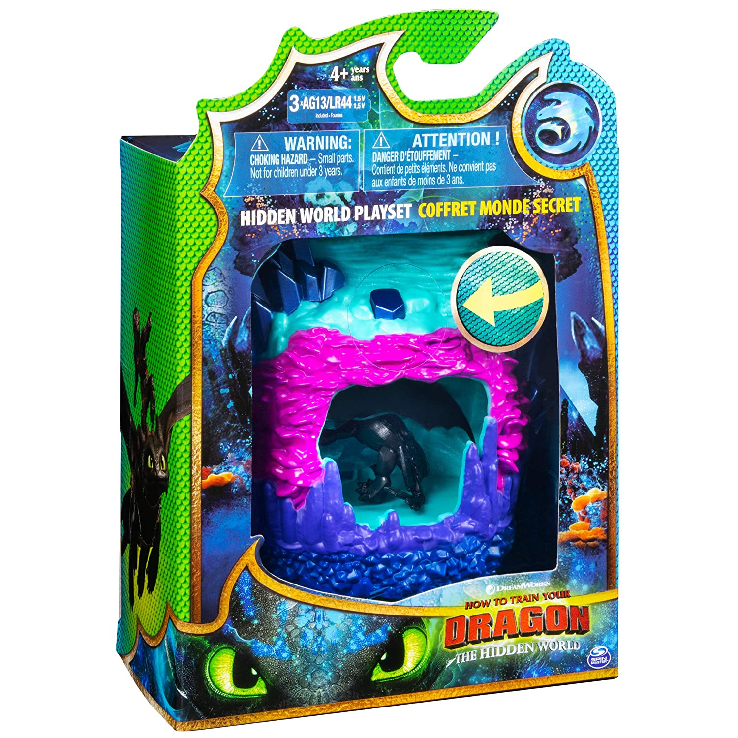 Dreamworks Dragons Hidden World Playset, Dragon Lair with Collectible  Toothless Figure, for Kids Aged 4 and Up