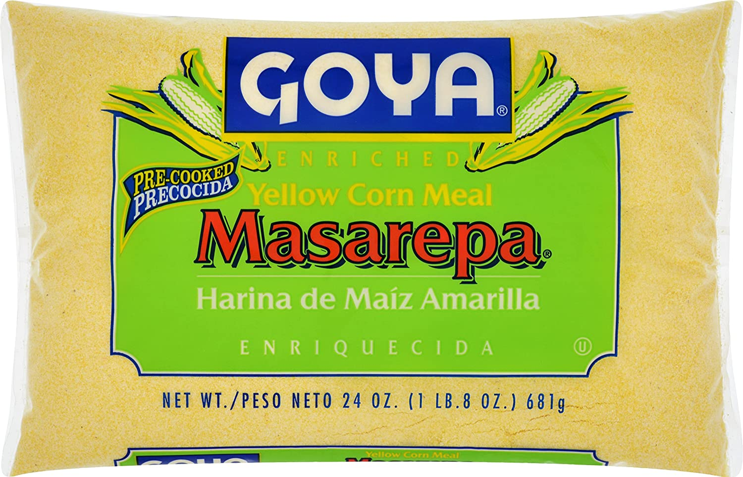 Goya Foods Masarepa Corn Meal, Yellow, 24 Ounce
