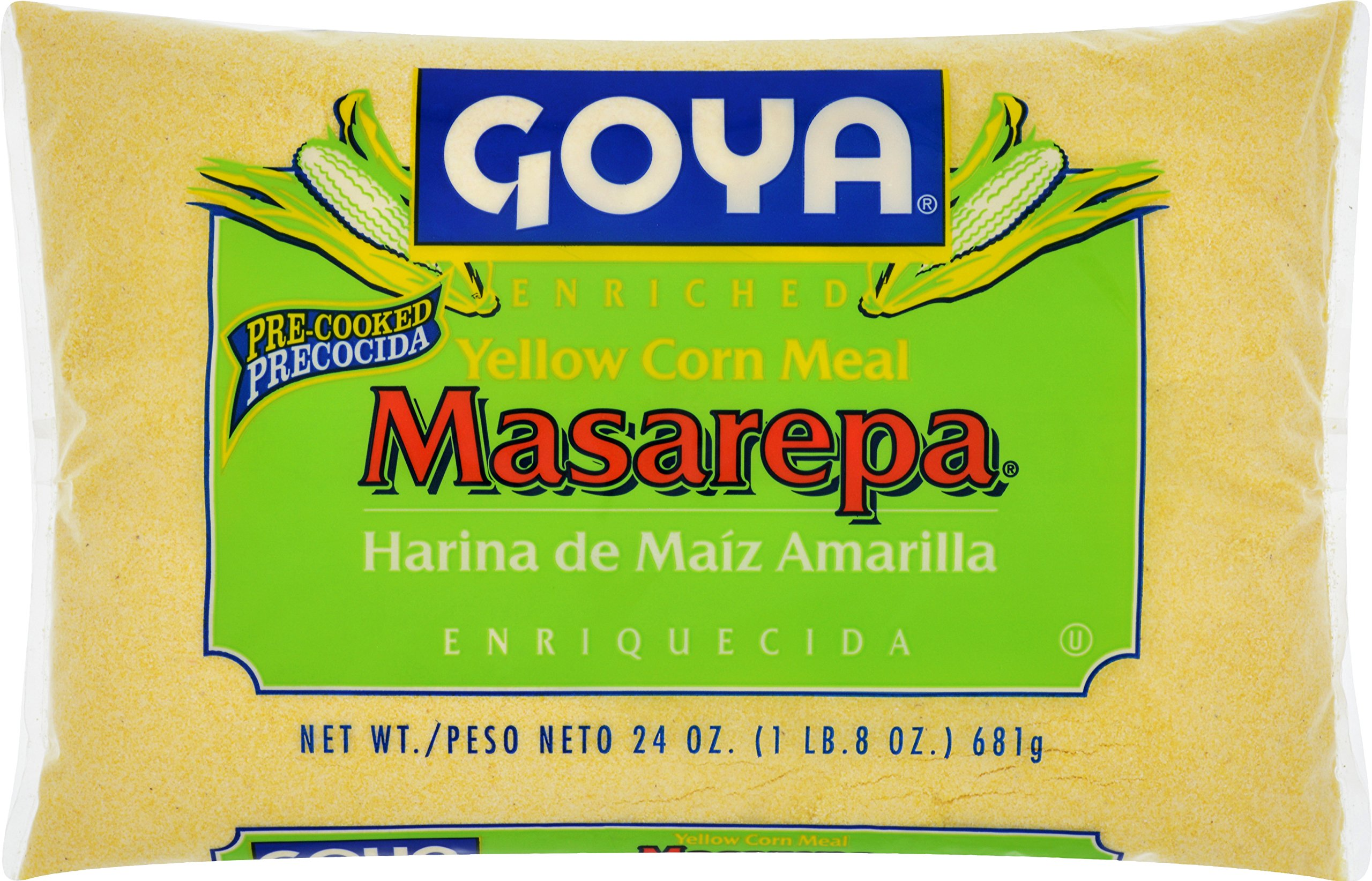 Goya Foods Corn Meal (Masarepa), 24-Ounce (Pack of 12)