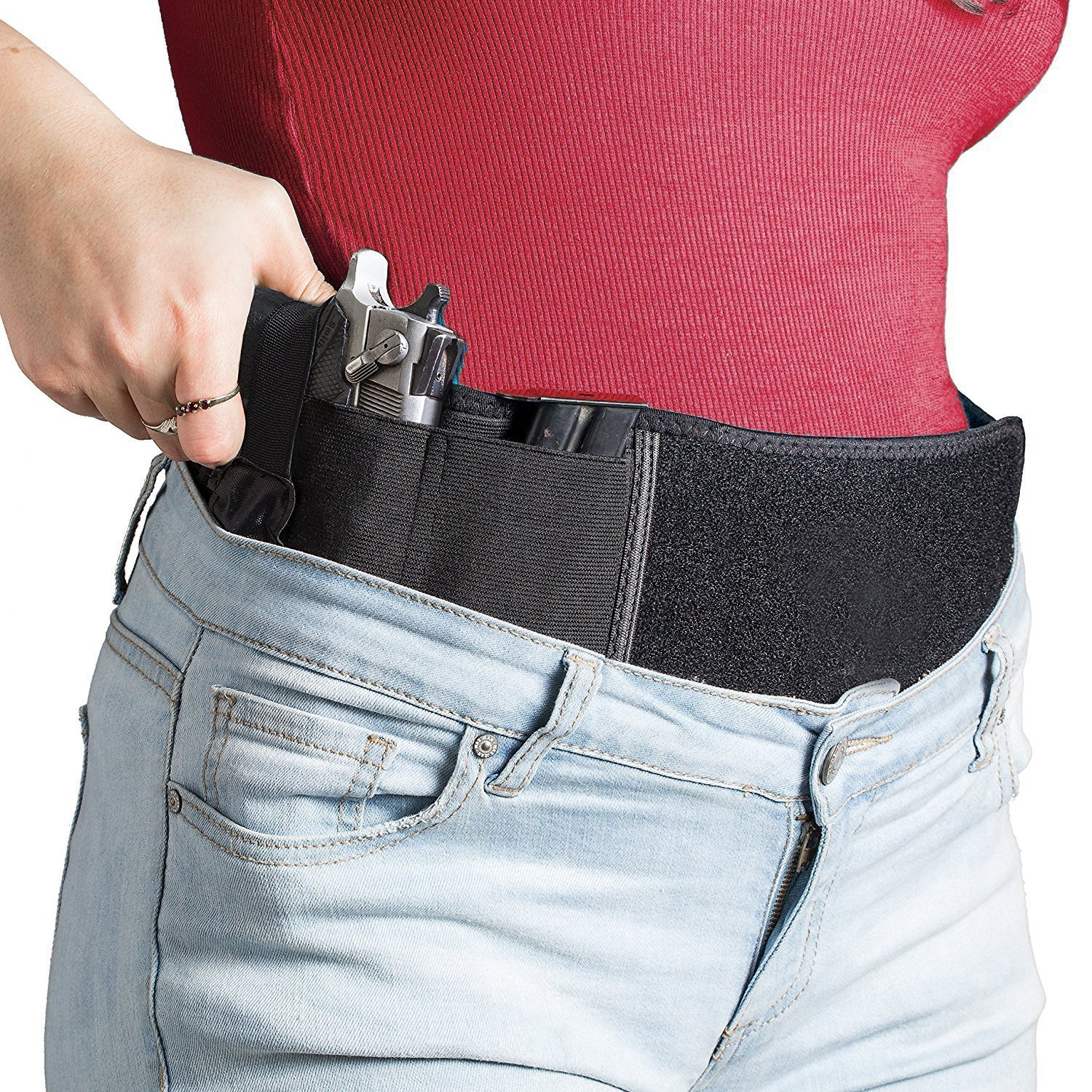 Concealed Carry Belly Band, Neoprene Gun Holster Fits Under Shirt and Clothing (5\