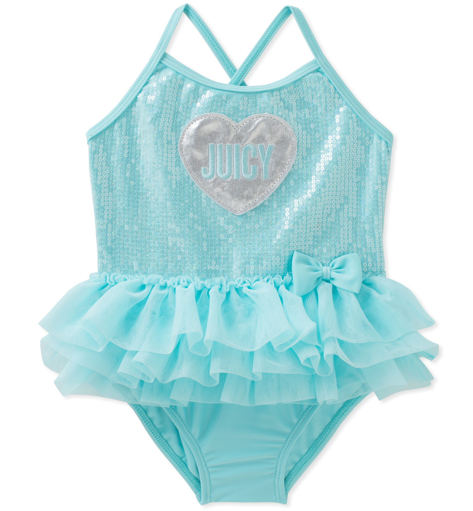 Juicy Couture Girls Swimsuit, Mint, 24M