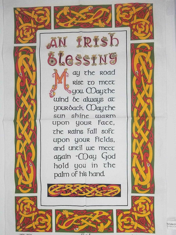 New Irish Blessing Linen Union Tea Towel: Amazon.co.uk: Kitchen & Home