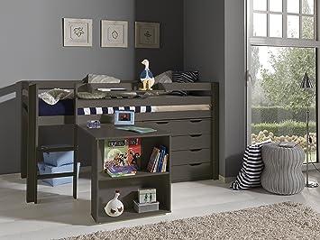 Etagenbett Mit Schreibtisch Und Kommode : Vipack autobett picohsbuks pino hochbett mit schreibtisch und
