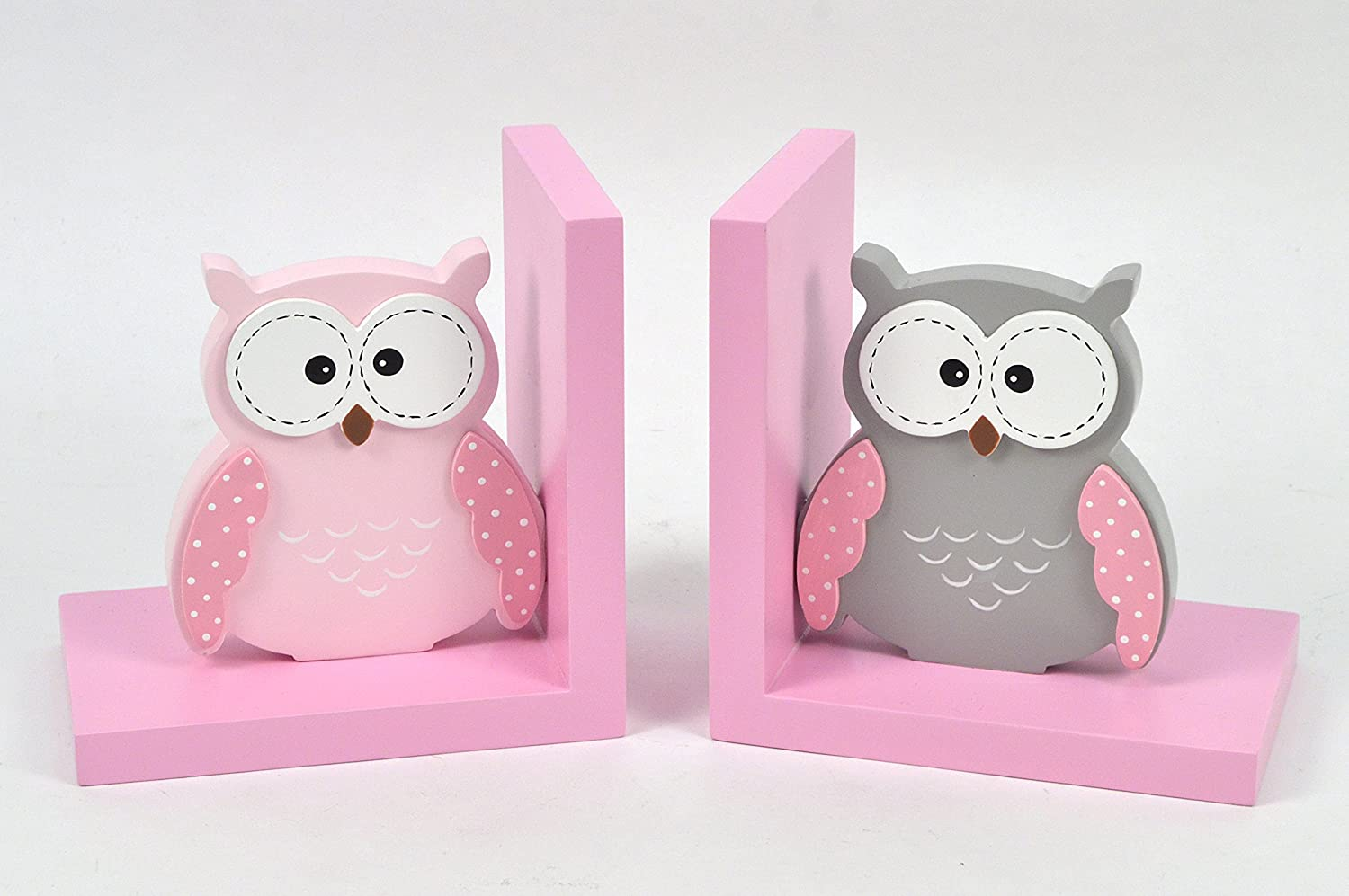 Concepts pink princess castel bookend set (Pink owl)