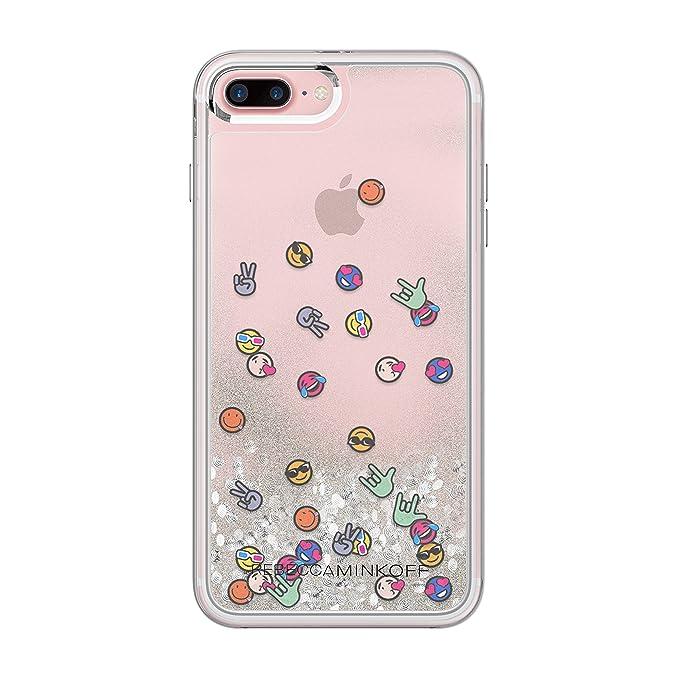ff5bd7d73 Amazon.com: Rebecca Minkoff iPhone 7 Plus Case, Glitterfall Designer Phone  Case [Protective] fits Apple iPhone 7 Plus - Emojis: Cell Phones &  Accessories