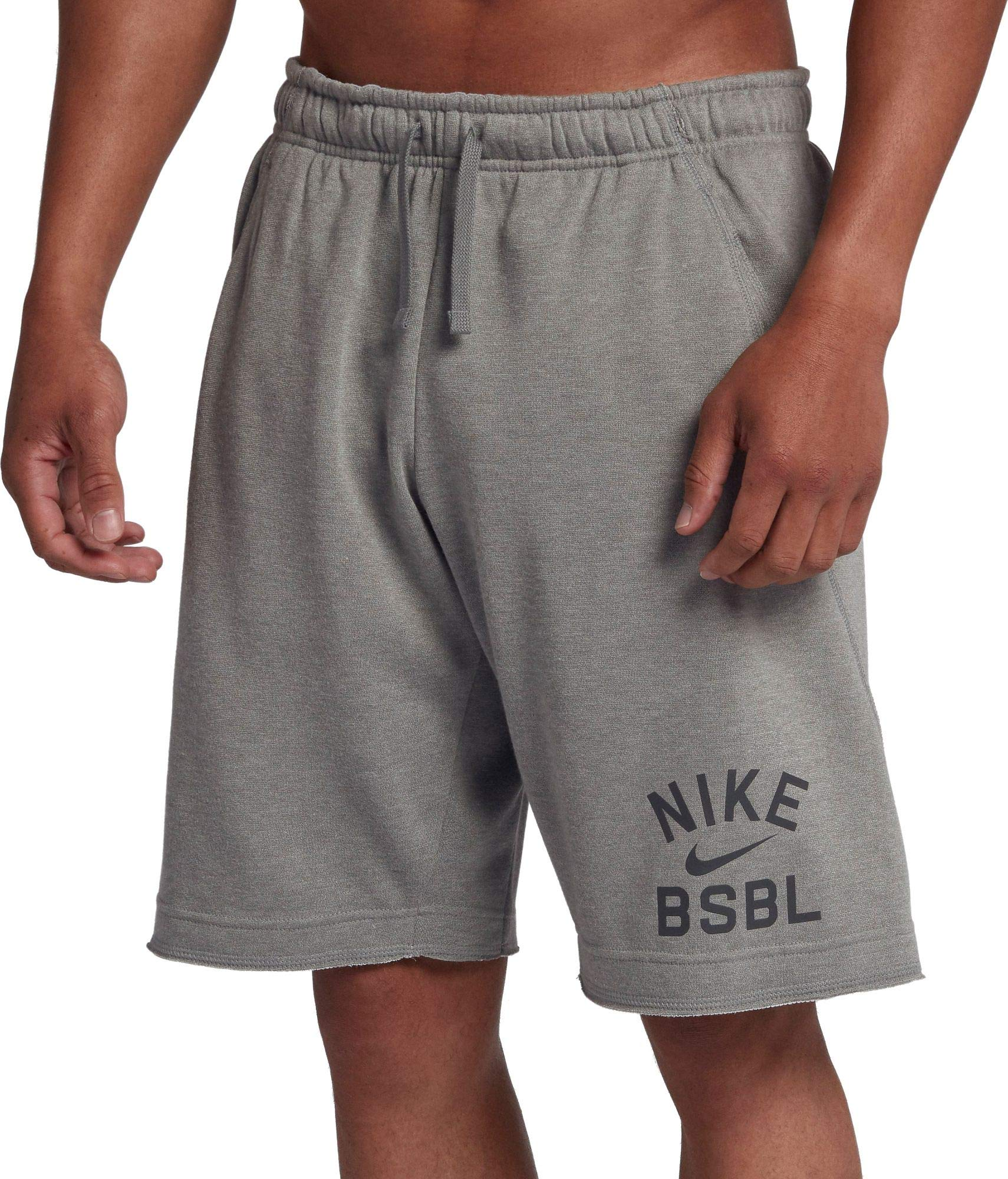 Nike Men's Flux Baseball Shorts (Dk Grey Heather, Large) by Nike