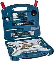 Conjunto X-Line Titânio 100 Peças, Bosch, 2607017397-000, Azul
