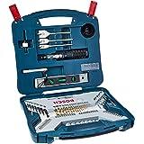 Kit de Pontas e Brocas em Titânio Bosch X-Line para parafusar e perfurar com 100 unidades