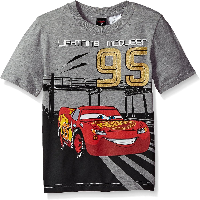 Disney Cars Boys Lightning McQueen T-Shirt New Green Officially Licensed