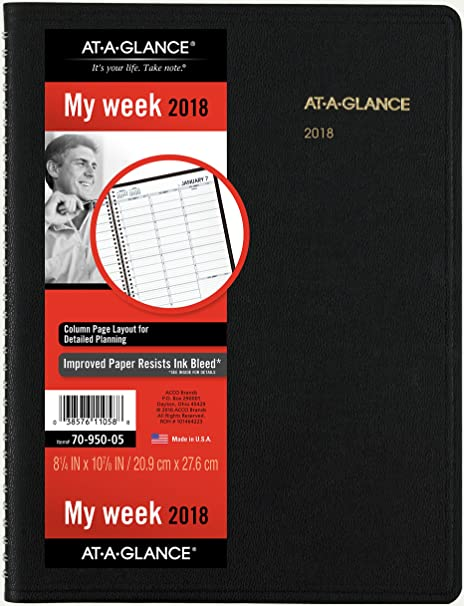 at a glance 70 950 05 2018 weekly appointment book quarter