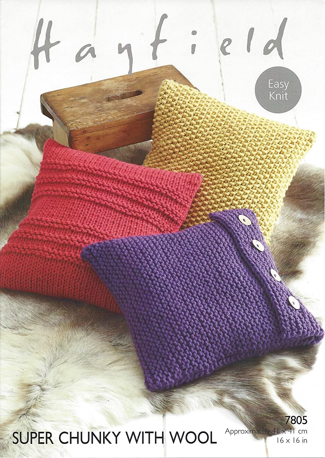 Sirdar/Hayfield Super Chunky 100g Knitting Pattern - 7805 Cushion ...