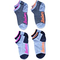 Skechers Socks SK42003, Calcetines deportivos para Niñas, Pack de 4